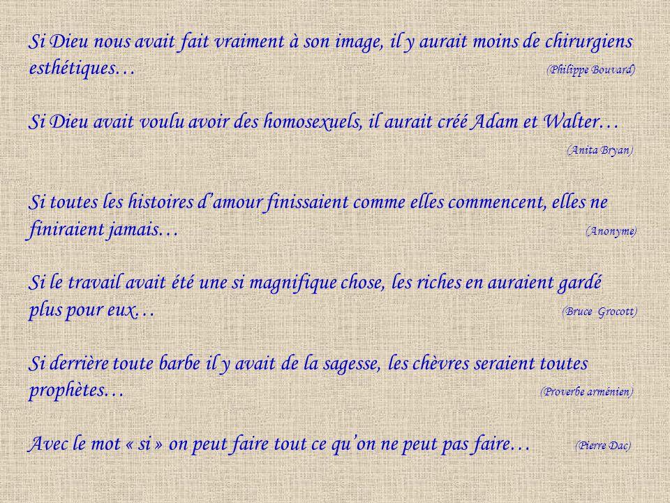 esthétiques… (Philippe Bouvard)