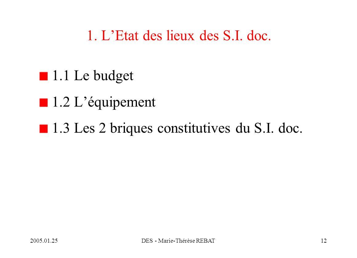 1. L'Etat des lieux des S.I. doc.