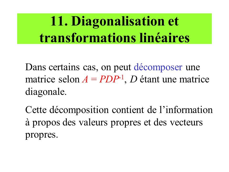 11. Diagonalisation et transformations linéaires
