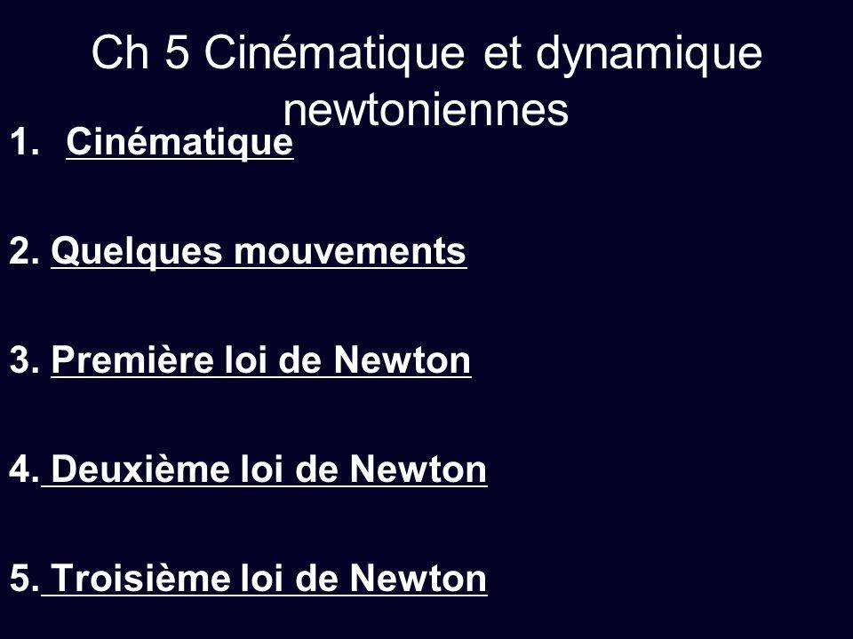 Ch 5 Cinématique et dynamique newtoniennes