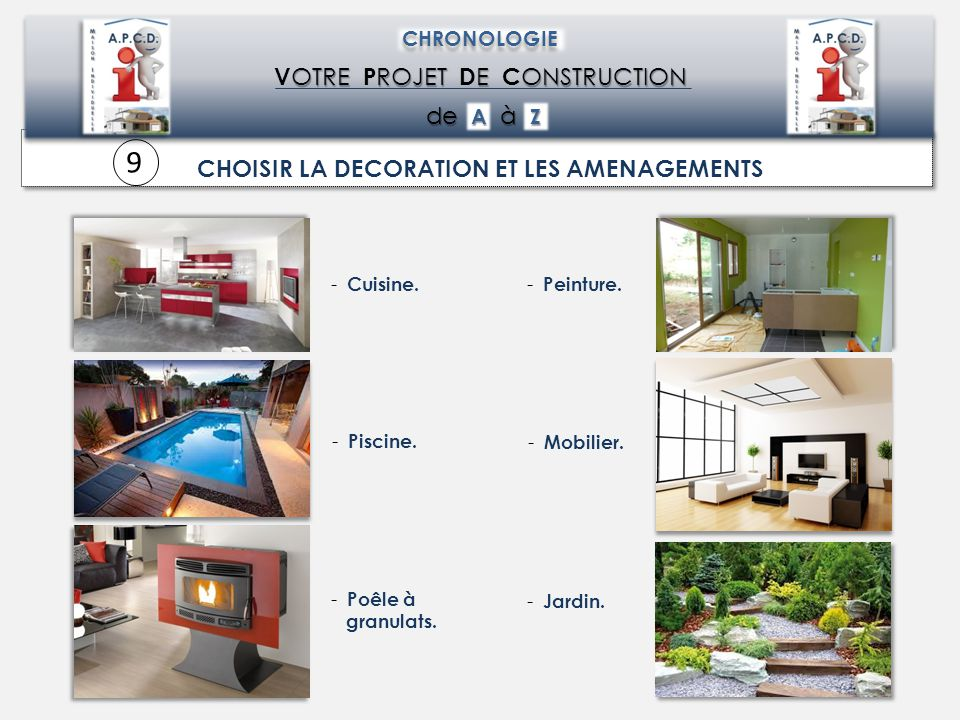 CHOISIR LA DECORATION ET LES AMENAGEMENTS