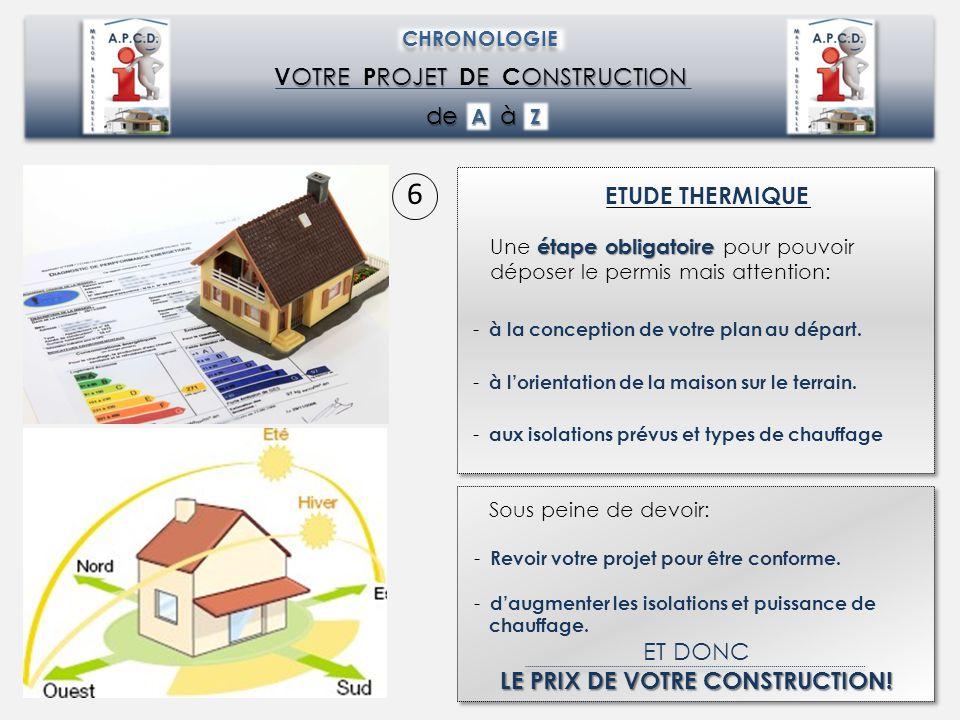 LE PRIX DE VOTRE CONSTRUCTION!