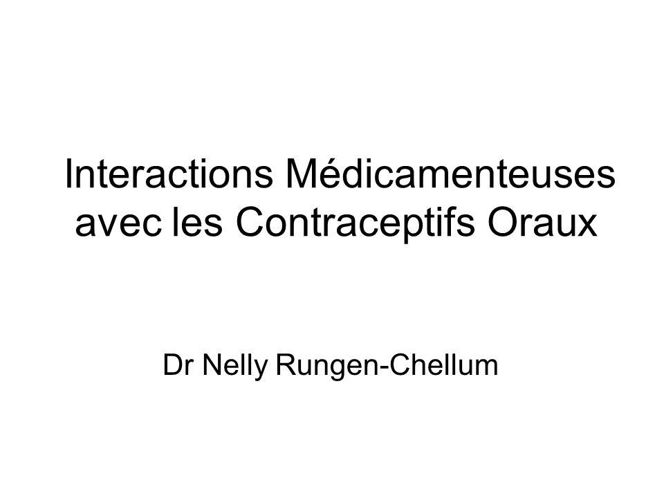 Interactions Médicamenteuses avec les Contraceptifs Oraux