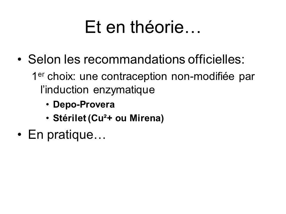 Et en théorie… Selon les recommandations officielles: En pratique…