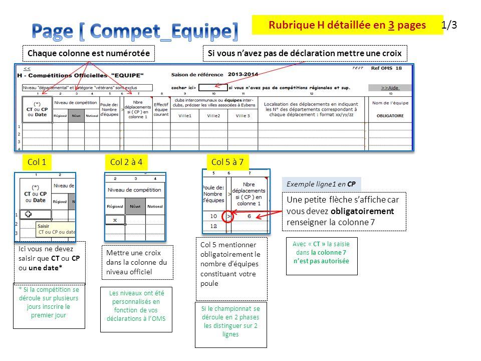 Rubrique H détaillée en 3 pages