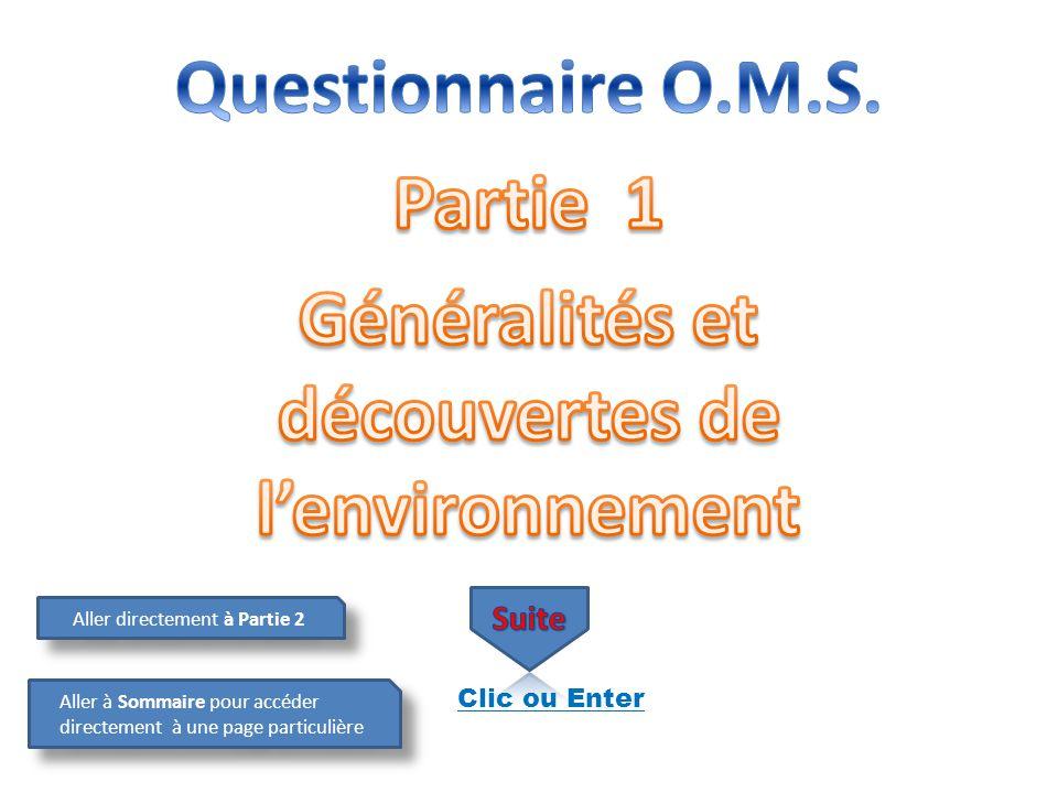 Généralités et découvertes de l'environnement