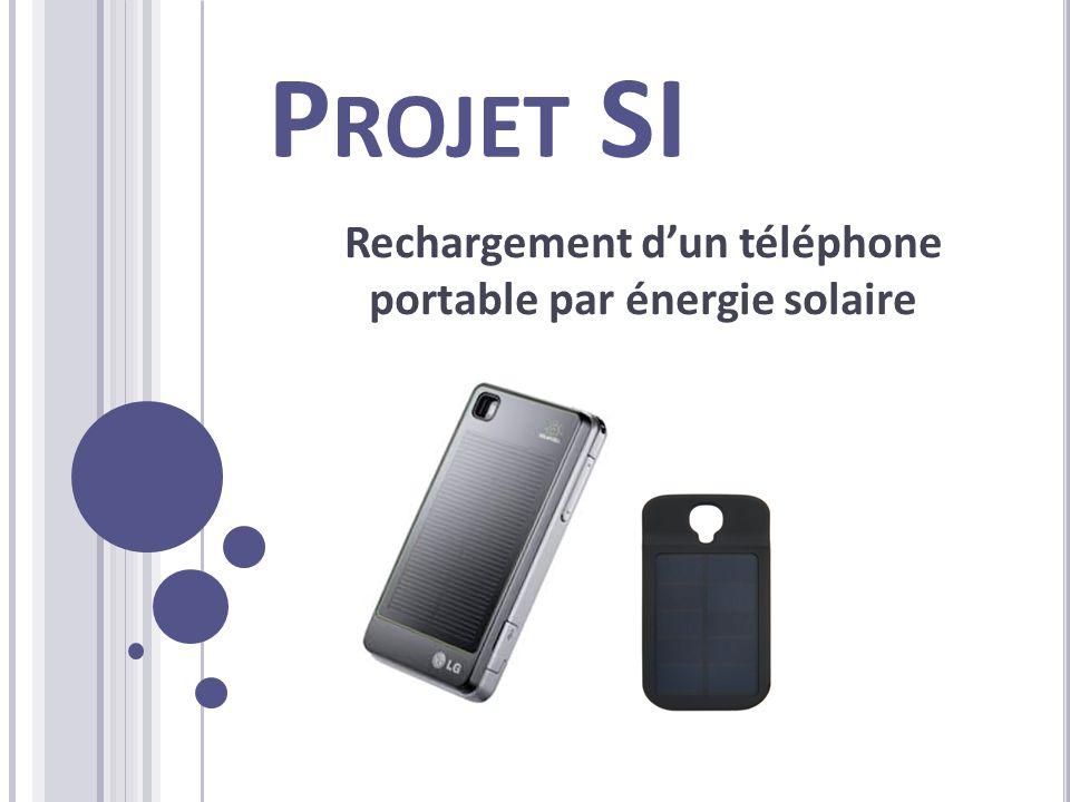 Rechargement d'un téléphone portable par énergie solaire
