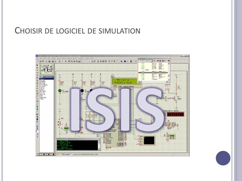 Choisir de logiciel de simulation