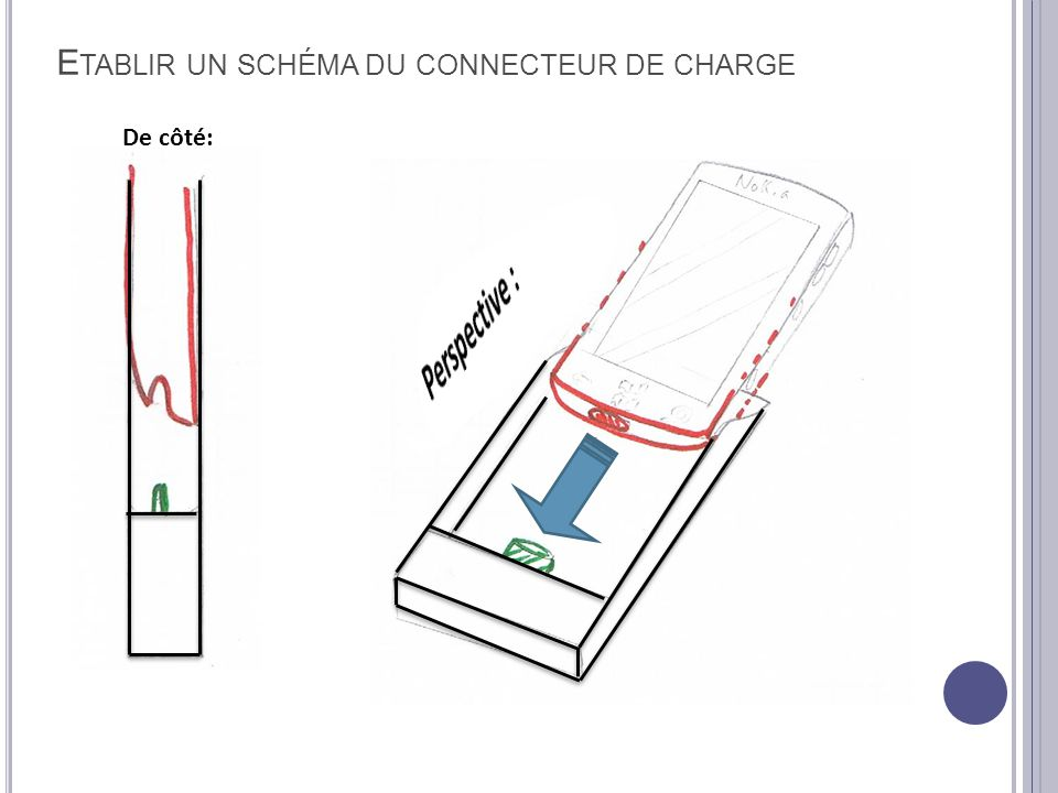 Etablir un schéma du connecteur de charge