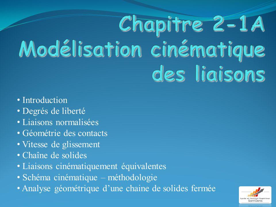Chapitre 2-1A Modélisation cinématique des liaisons