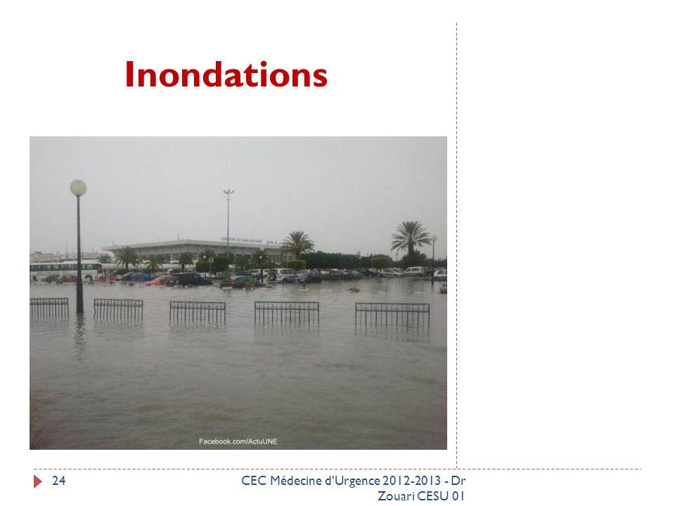 Inondations CEC Médecine d Urgence 2012-2013 - Dr Zouari CESU 01