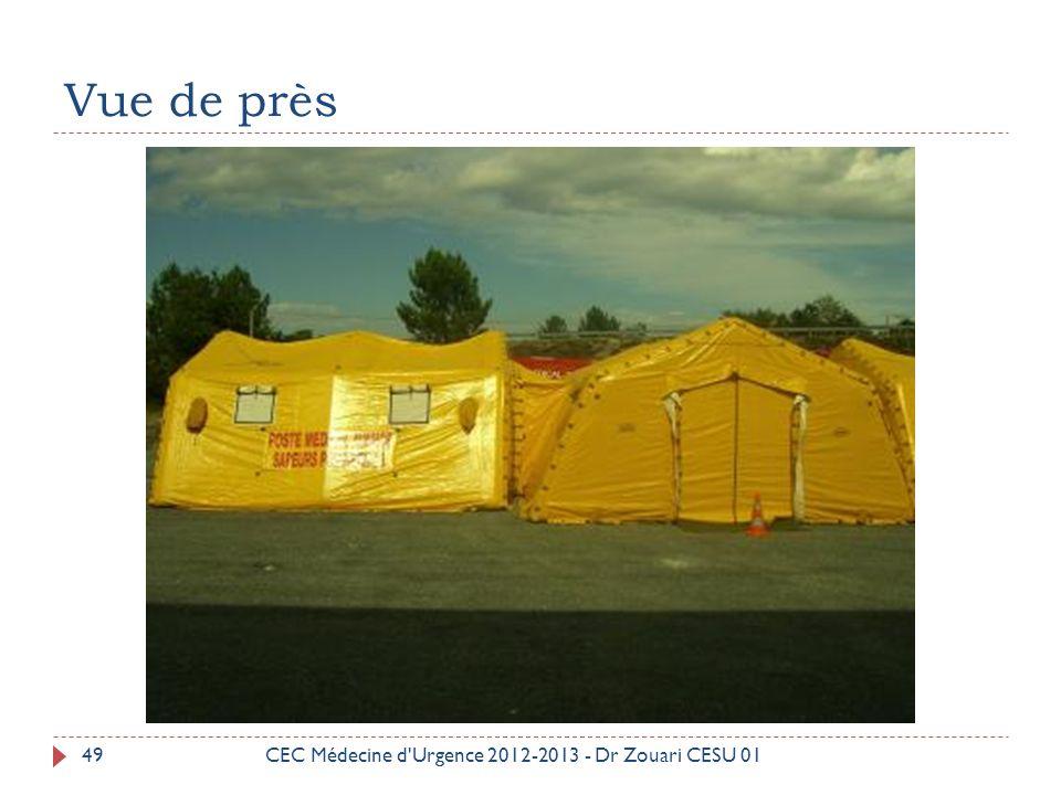 Vue de près CEC Médecine d Urgence 2012-2013 - Dr Zouari CESU 01
