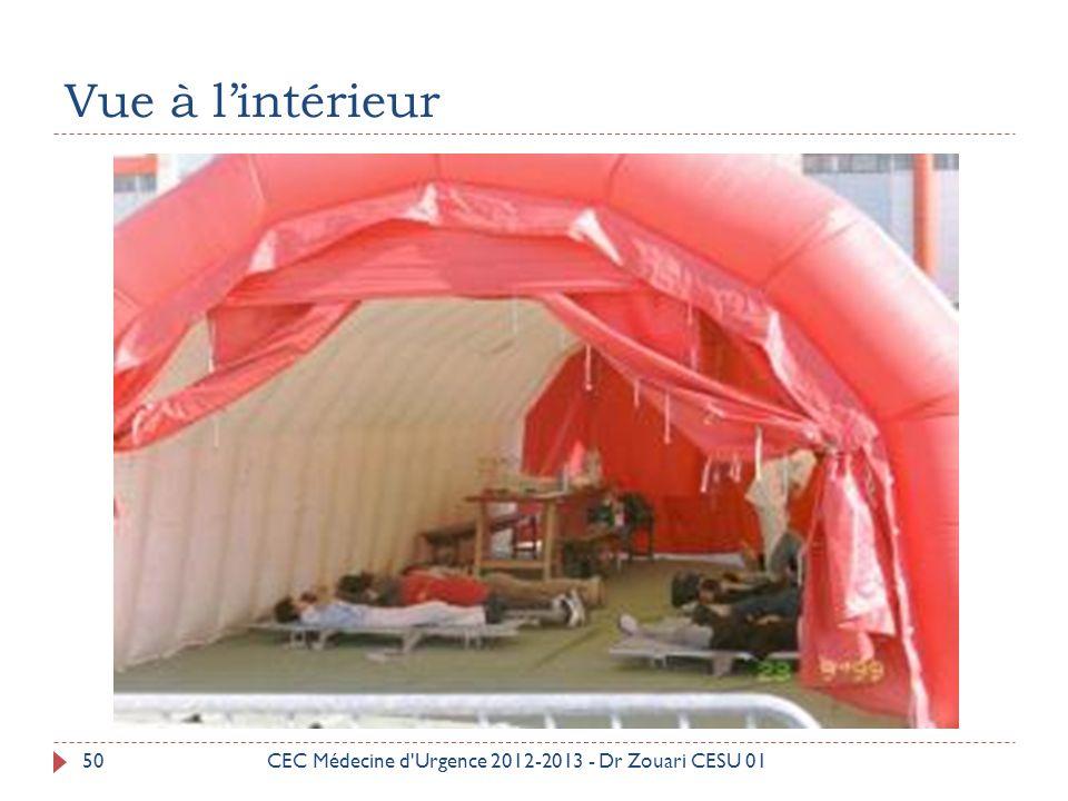 Vue à l'intérieur CEC Médecine d Urgence 2012-2013 - Dr Zouari CESU 01