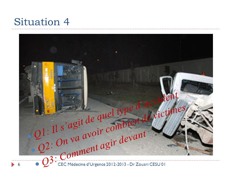 Q1: Il s'agit de quel type d'accident