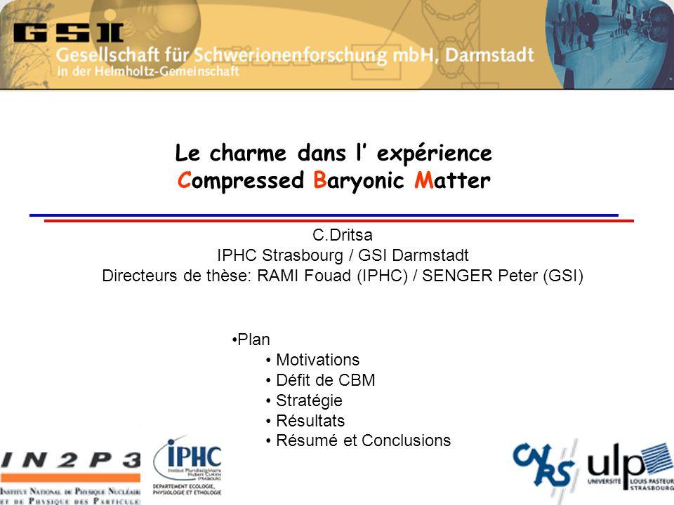 Le charme dans l' expérience Compressed Baryonic Matter