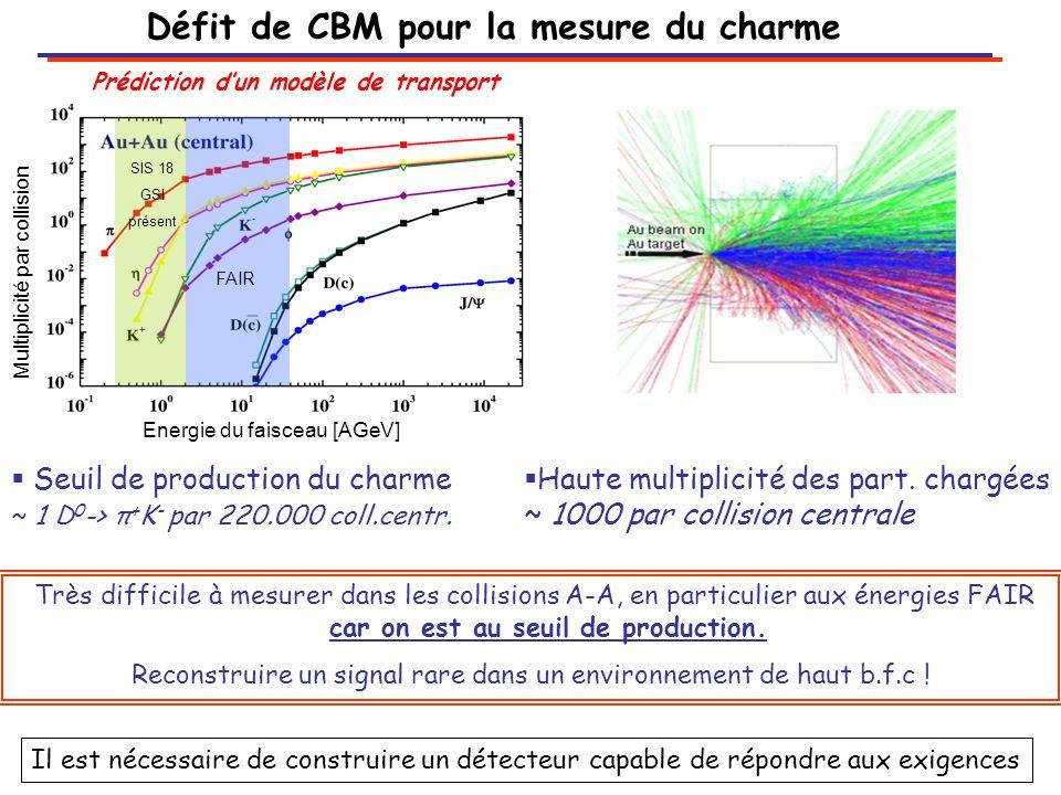 Défit de CBM pour la mesure du charme