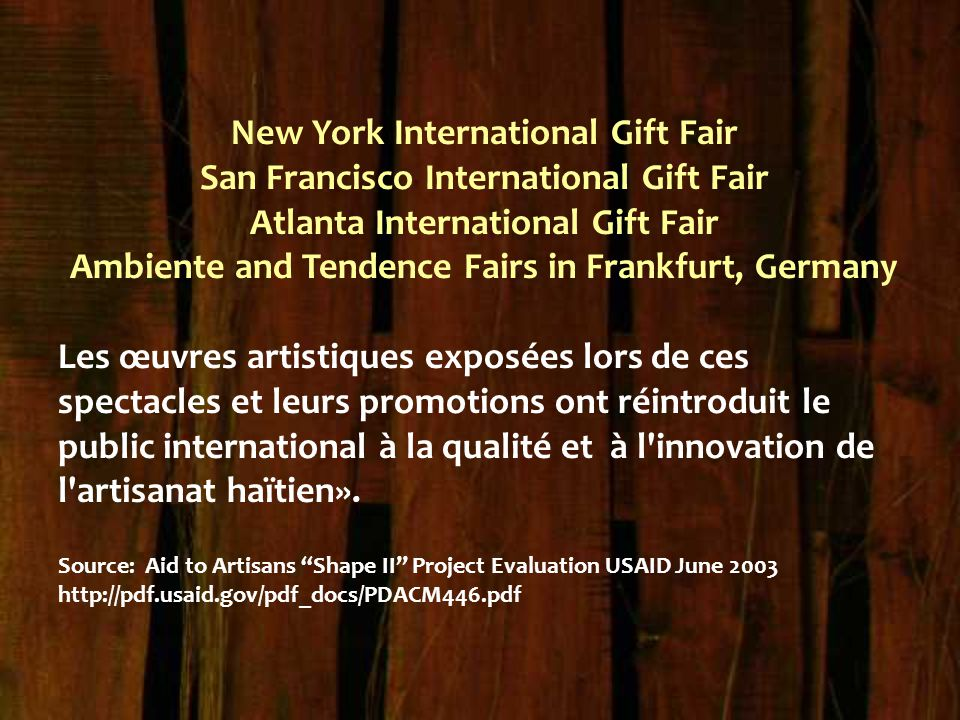 New York International Gift Fair San Francisco International Gift Fair