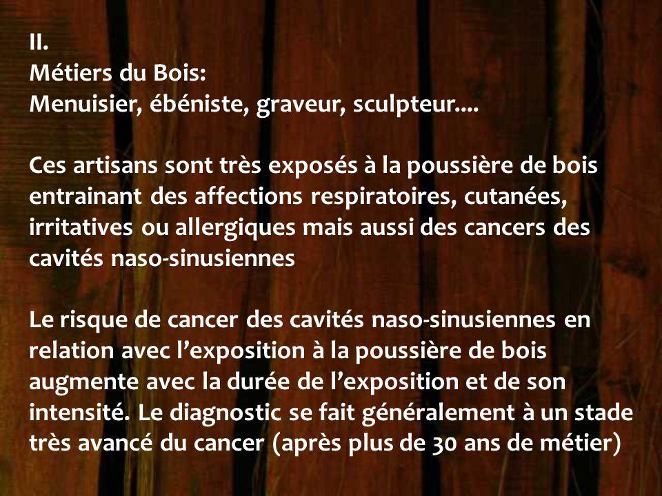 II. Métiers du Bois: Menuisier, ébéniste, graveur, sculpteur....