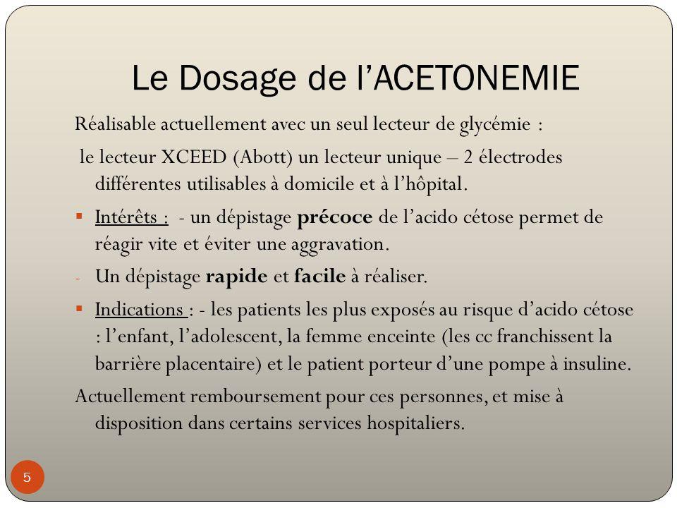 Le Dosage de l'ACETONEMIE