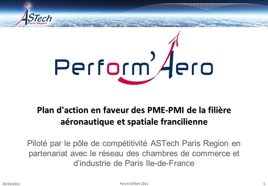 Plan d action en faveur des PME-PMI de la filière aéronautique et spatiale francilienne