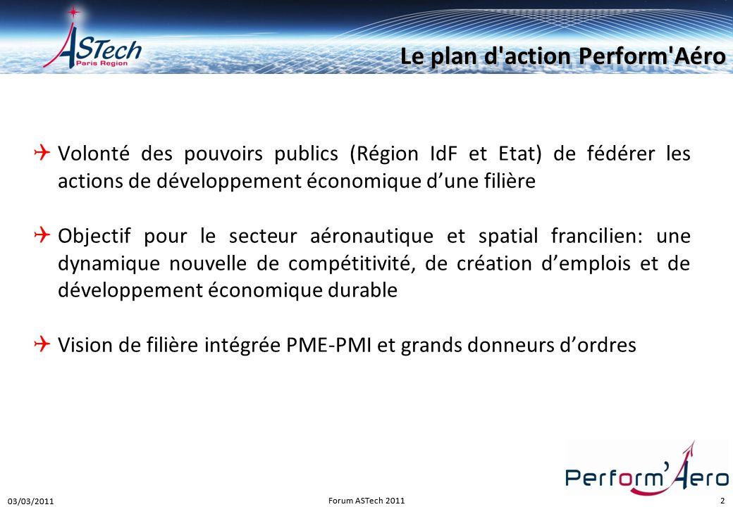 Le plan d action Perform Aéro