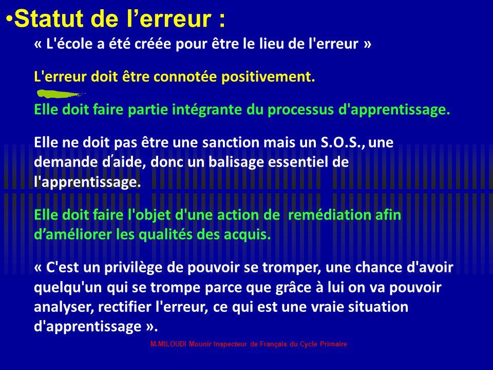 M.MILOUDI Mounir Inspecteur de Français du Cycle Primaire