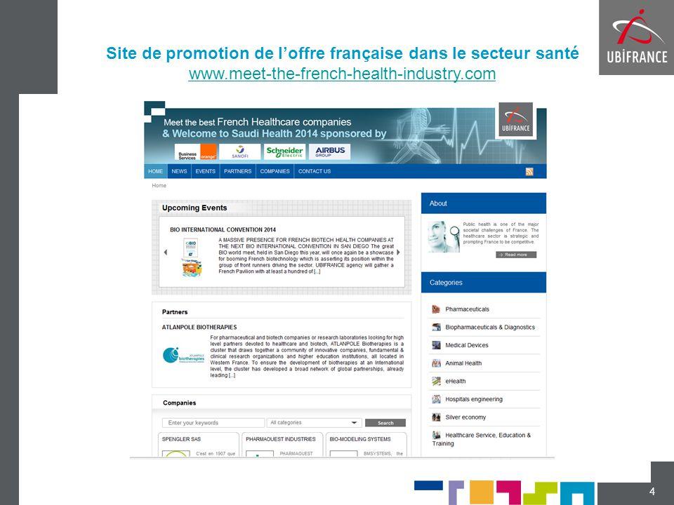 Site de promotion de l'offre française dans le secteur santé