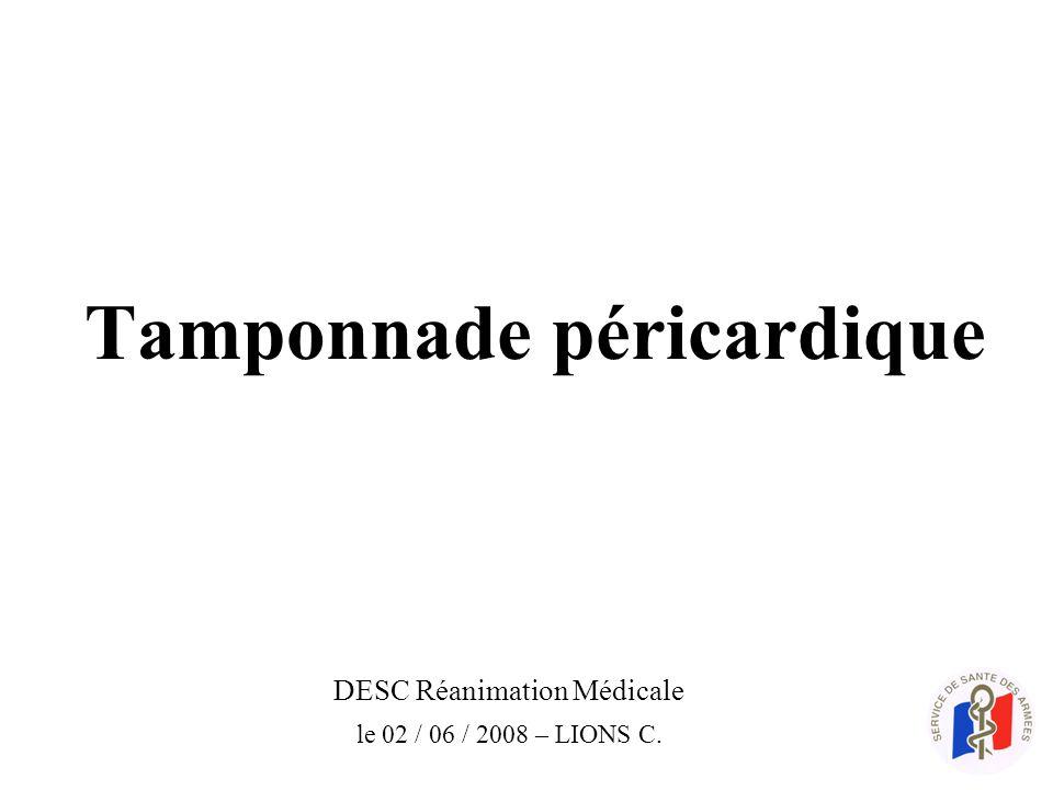 Tamponnade péricardique