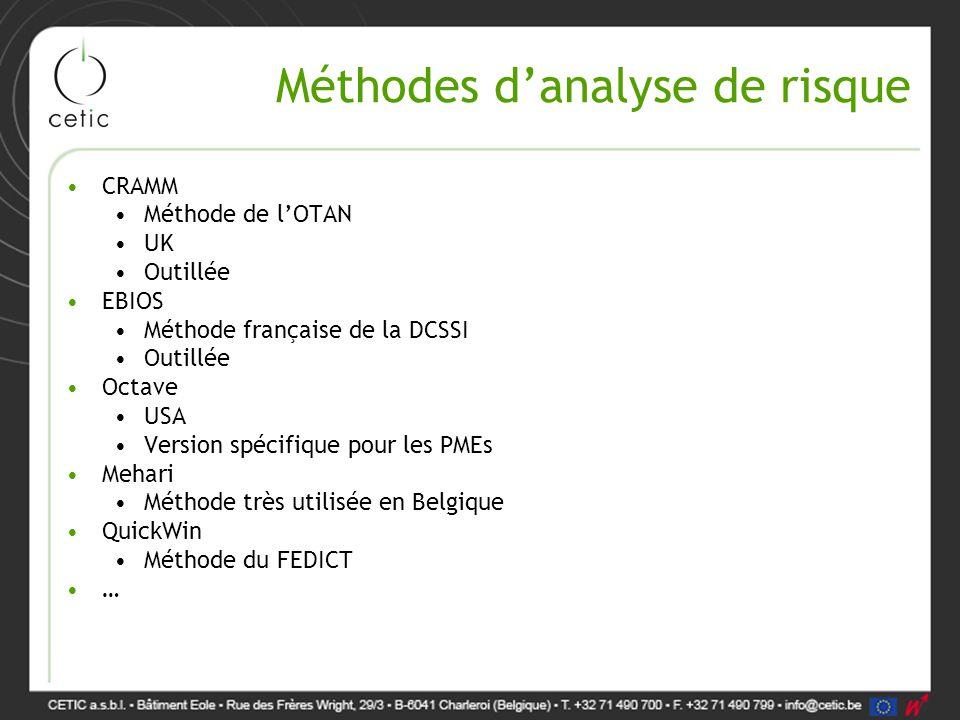 Méthodes d'analyse de risque