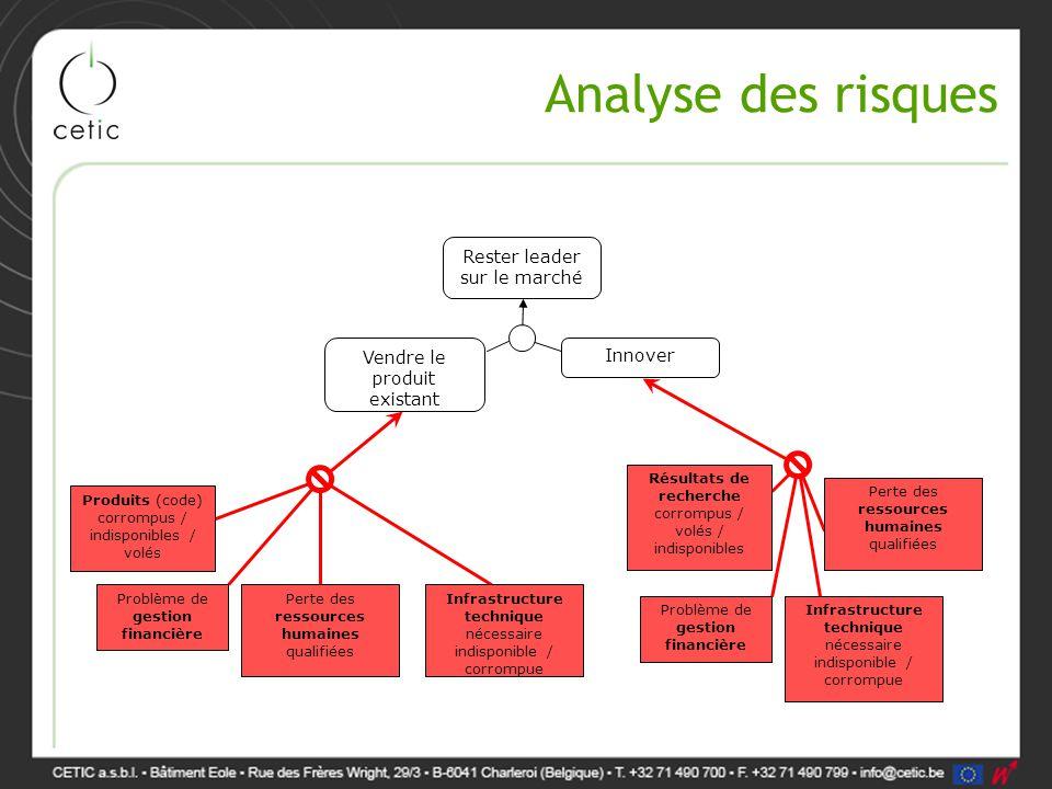 Analyse des risques Rester leader sur le marché