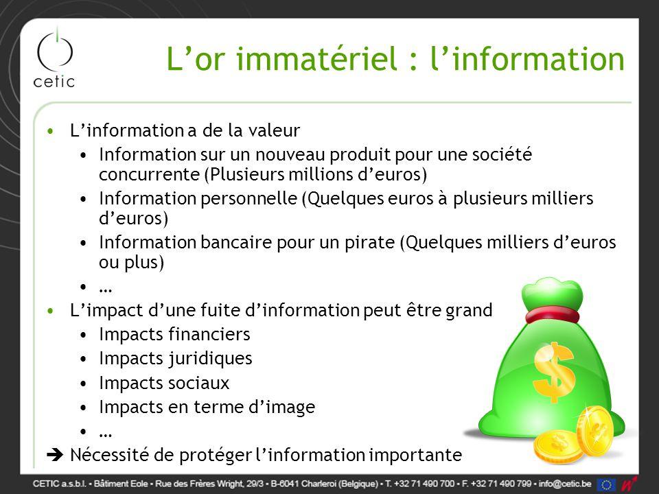 L'or immatériel : l'information