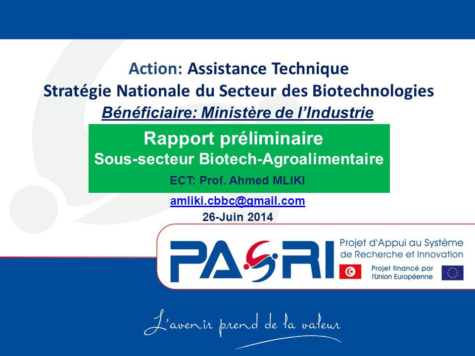 Sous-secteur Biotech-Agroalimentaire