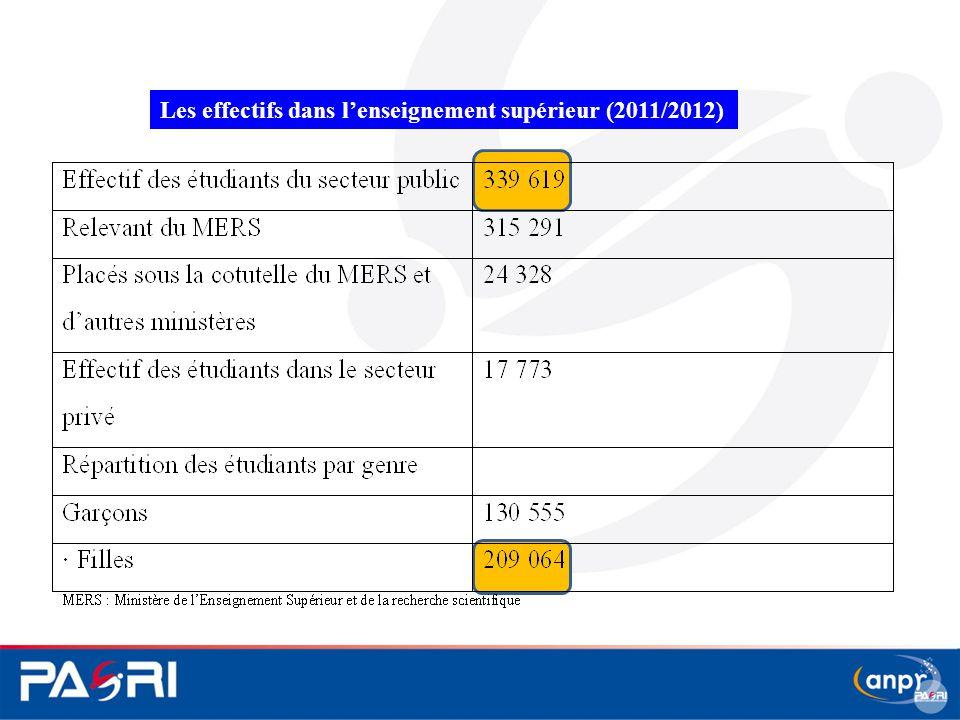 Les effectifs dans l'enseignement supérieur (2011/2012)