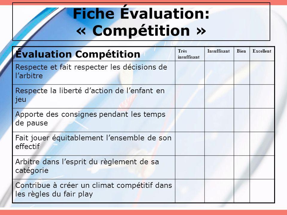 Fiche Évaluation: « Compétition »