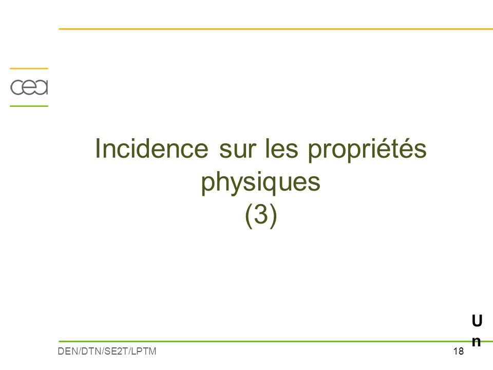 Incidence sur les propriétés physiques (3)