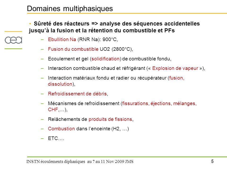 Domaines multiphasiques