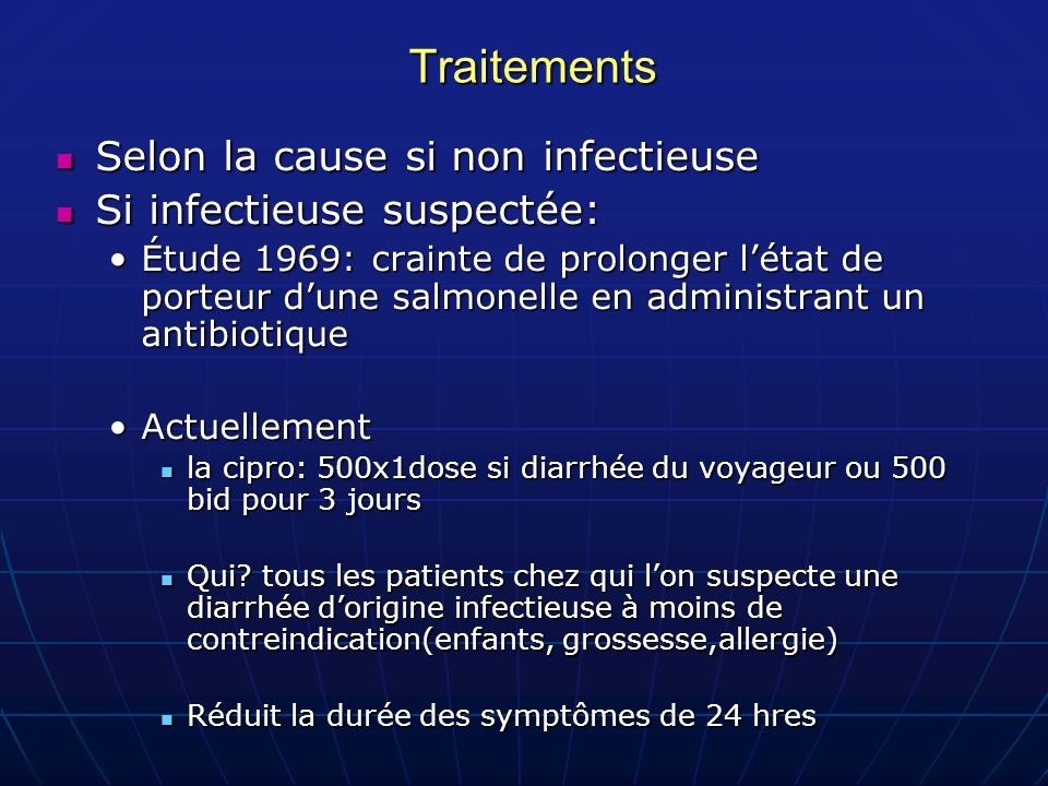 Traitements Selon la cause si non infectieuse