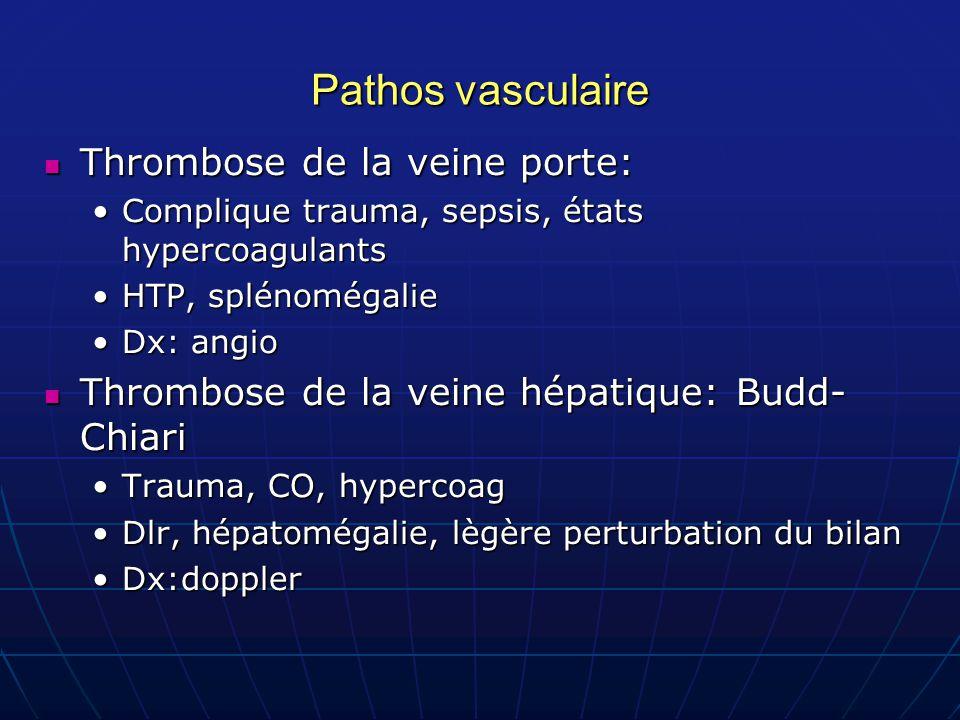 Pathos vasculaire Thrombose de la veine porte: