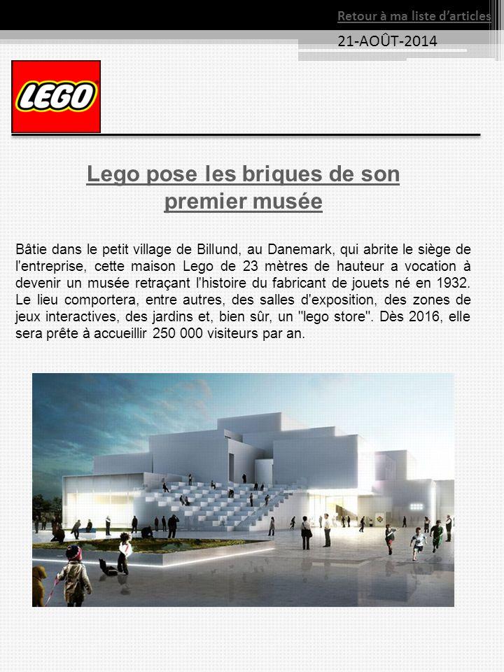Lego pose les briques de son