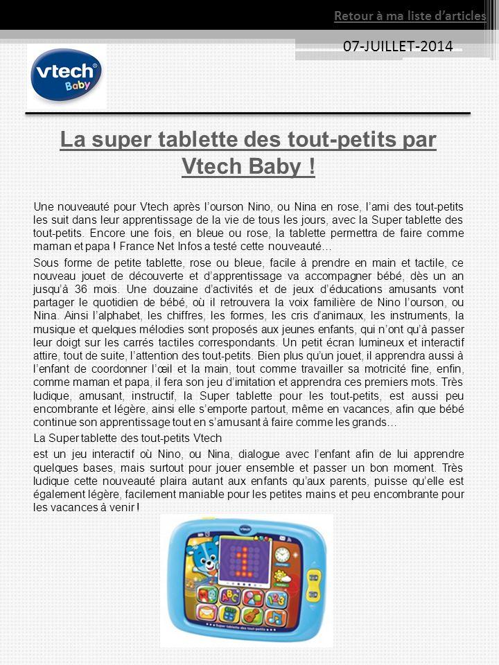 La super tablette des tout-petits par Vtech Baby !