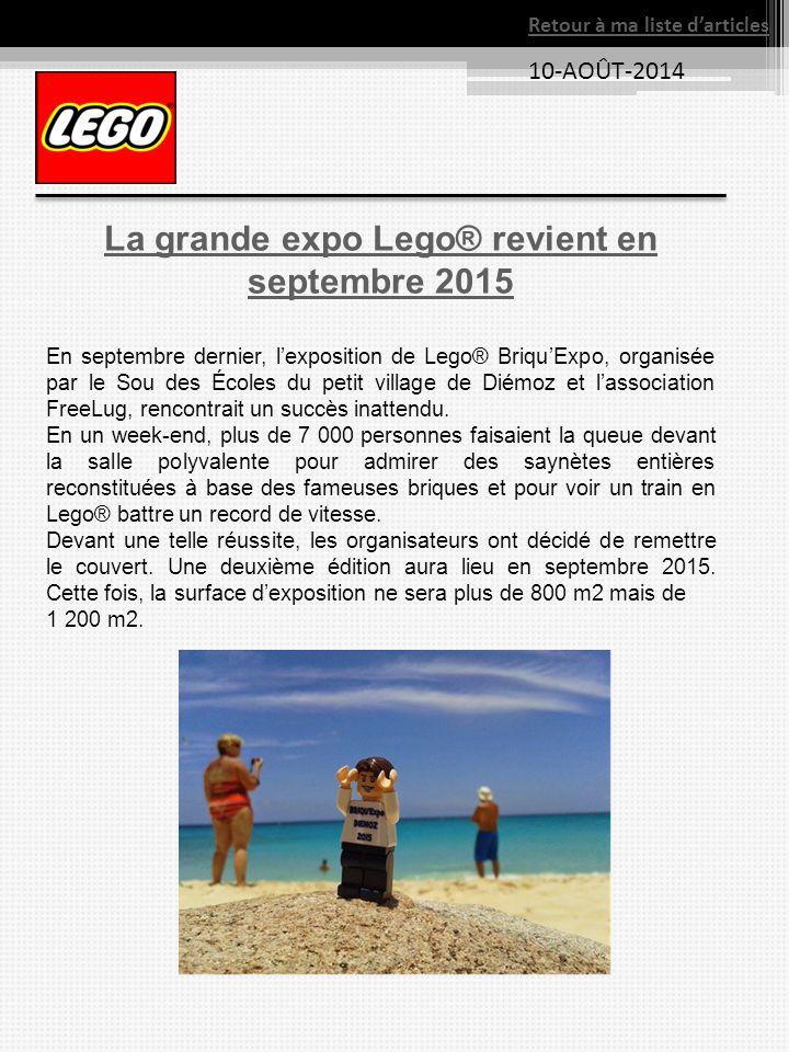 La grande expo Lego® revient en