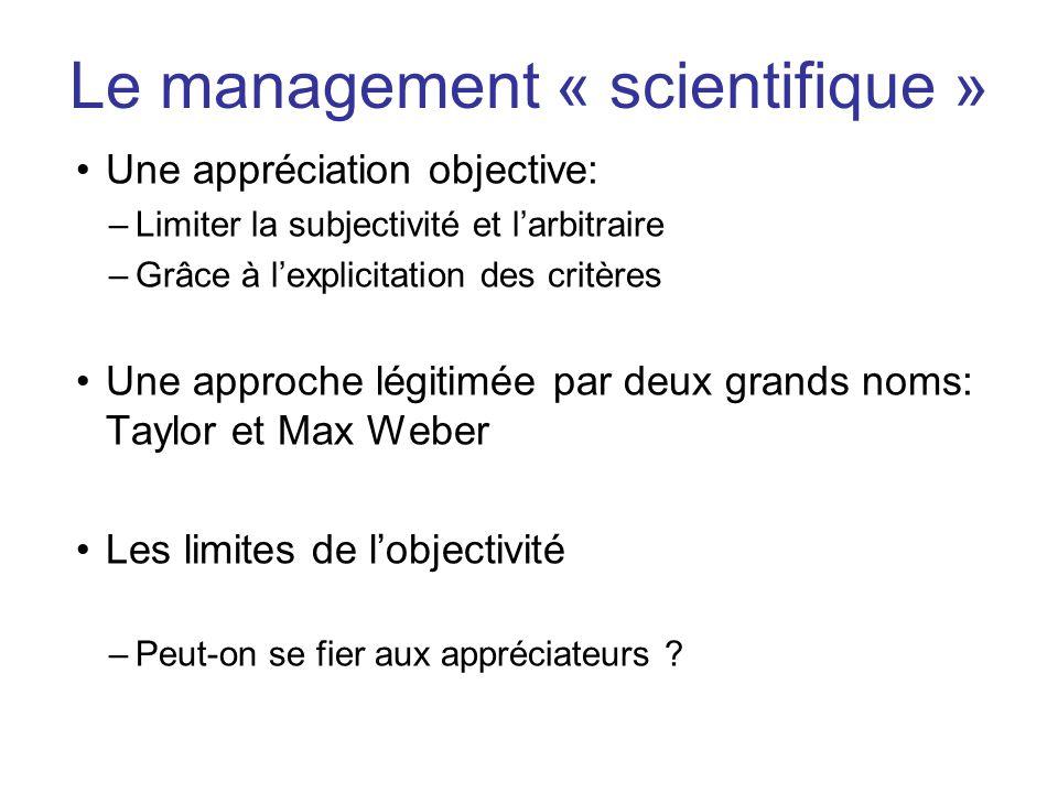 Le management « scientifique »