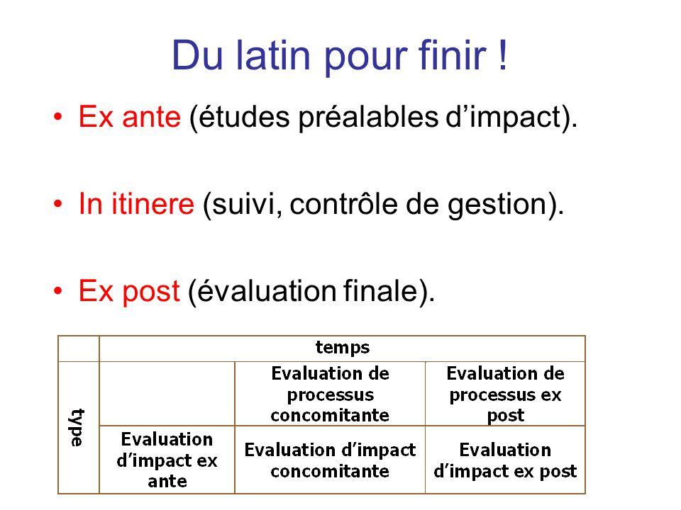 Du latin pour finir ! Ex ante (études préalables d'impact).