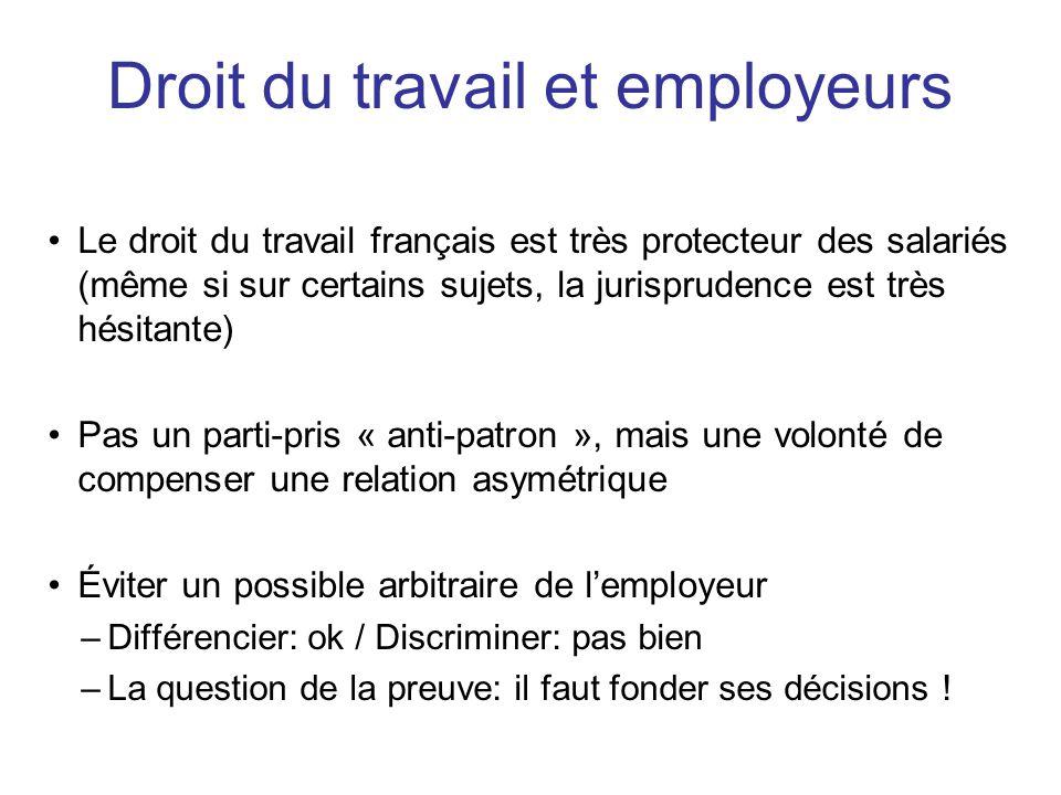 Droit du travail et employeurs