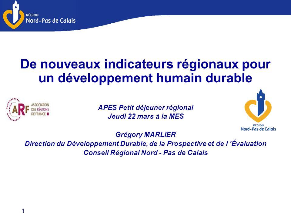 De nouveaux indicateurs régionaux pour un développement humain durable