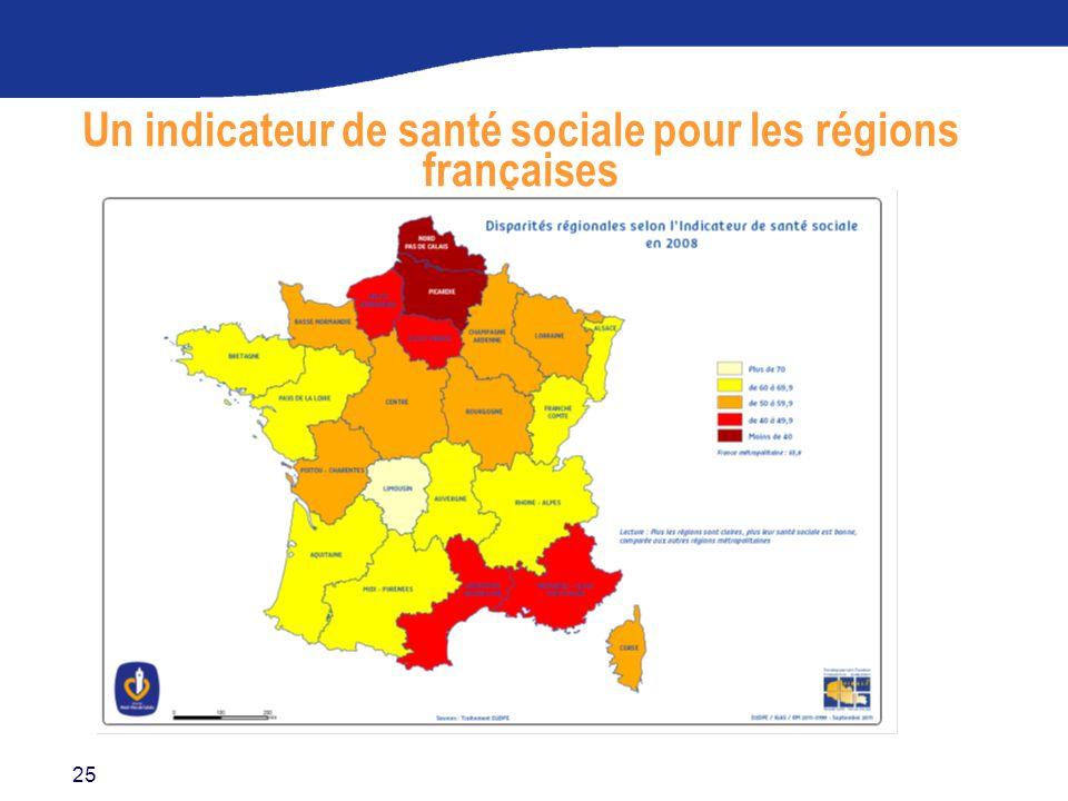Un indicateur de santé sociale pour les régions françaises