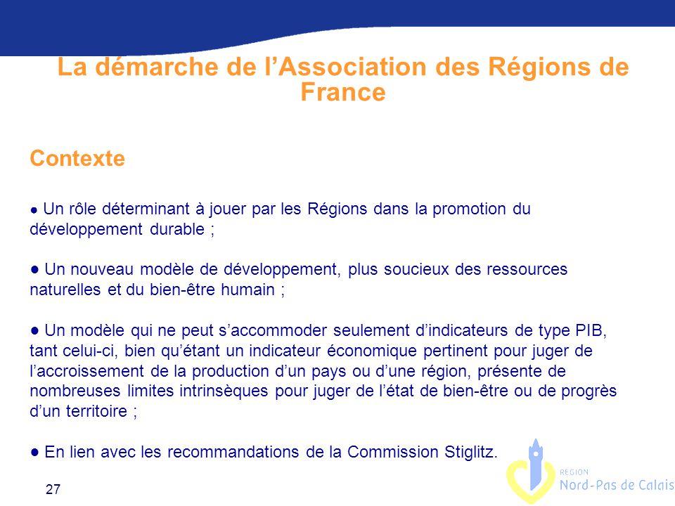 La démarche de l'Association des Régions de France