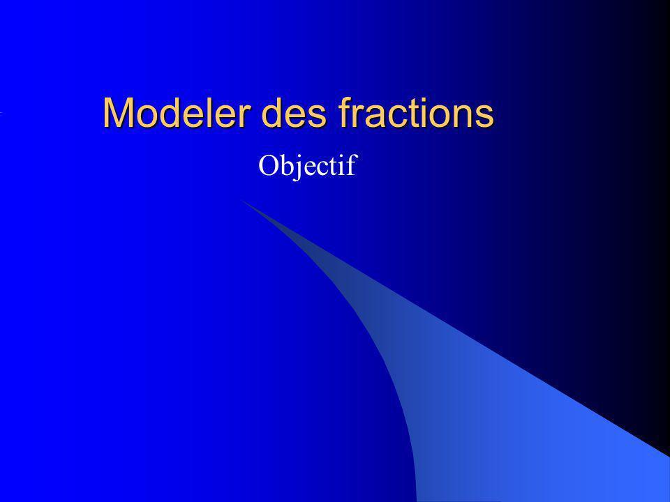 Modeler des fractions Objectif
