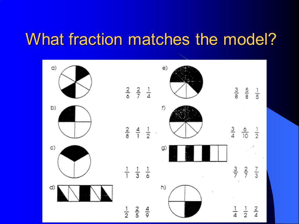 What fraction matches the model