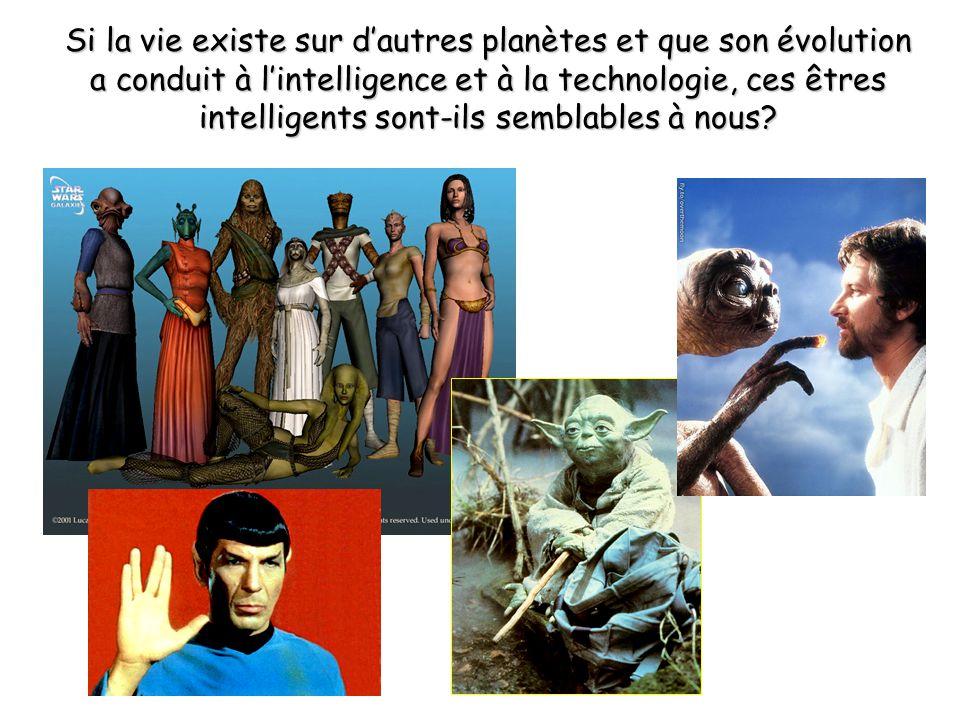 Si la vie existe sur d'autres planètes et que son évolution a conduit à l'intelligence et à la technologie, ces êtres intelligents sont-ils semblables à nous